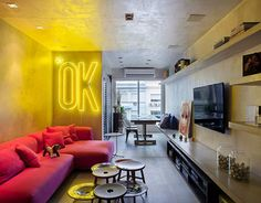 Designed in 2014 by Studio RO+CA, this inspiring apartment is located in Rio de Janeiro, Brazil.