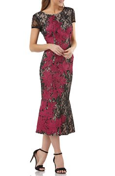 online shopping for JS Collections Soutache Embroidered Lace Dress from top store. See new offer for JS Collections Soutache Embroidered Lace Dress Lace Top Dress, Ruched Dress, Tea Length Dresses, Short Sleeve Dresses, Embroidered Lace, Nordstrom Dresses, Women's Fashion Dresses, Clothes For Women, Collections