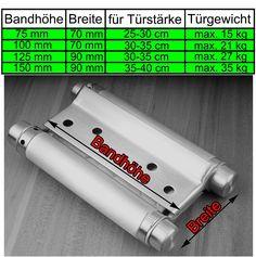 2 X PENDELTÜRBAND EDELSTAHL 75 mm rostfrei massiv Türband Scharniere Schwingtür: Amazon.de: Baumarkt