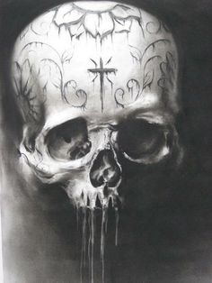 ✯ Artist Carlos Torres charcoal drawing for sullen clothing. ✯