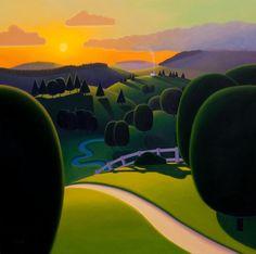 Paul Corfield Studio Work: New painting - Hills and Valleys