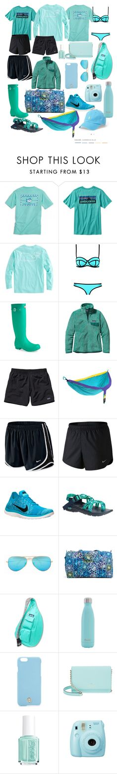 """Church camp preppy essentials"" by dickeyfam on Polyvore featuring Patagonia, Hunter, ENO, NIKE, Chaco, Ray-Ban, Vera Bradley, Kavu, S'well and Tory Burch"