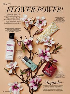 Beauty Still Flower Skincare Production: Laura Dunkelmann Photo: Kumicak + Namslau For MAXI magazine