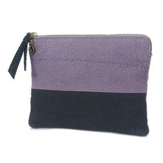 Lola clutch - Lilac and Blue by Alexandra