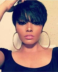 short wigs for black women african american wigs human hair wigs short pixie hairstyles #PixieHairstylesMessy