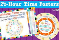 24-Hour Time Posters