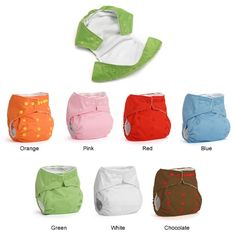 DinkleDooz diapers. Want to try. I love the red, blue, brown, and white =]