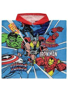 Marvel Avengers Towel Poncho, read reviews and buy online at George at ASDA. Shop from our latest range in Kids. After a big swim or bath-time, what better t...