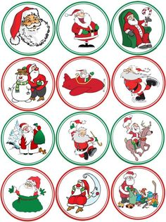 8 free printables from santa christmas pinterest gift tags