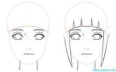 Como dibujar a Hinata Hyuga (Shippuden) paso a paso | Dibujanime!
