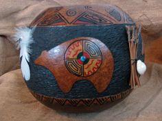 Gourd Art - Bear Medicine Bowl.