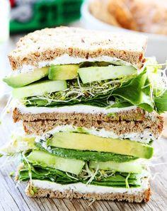 Cucumber And Avocado Sandwich - Vegan and Paleo Recipes Clean Recipes, Beef Recipes, Vegetarian Recipes, Cooking Recipes, Healthy Recipes, Vegan Vegetarian, Family Recipes, Cooking Games, Cooking Bacon