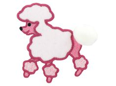 Small Poodle Iron-On Applique Small: $1.99 Med: $3.99 Lg: $5.99