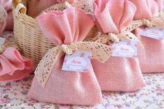 ideas for baby shower recuerditos originales Girl Baptism Party, Baby Shawer, Lavender Bags, Candy Bags, Trendy Baby, Baby Shower Parties, Burlap, Diy And Crafts, Sewing Projects