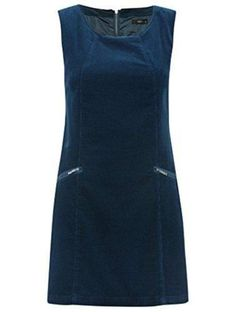 M & Co Blue Or Brown Cord Pinafore Dress Size 8 - 20 £35 Corduroy Shift