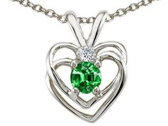 Tommaso Design(tm) Round Simulated Emerald and Genuine Diamond Heart Pendant in 14 kt White Gold Tommaso design Studio. $199.99. Certificate of Authenticity Included with this item. Guaranteed Authentic from the Tommaso design Studio designer line. Free Lifetime Warranty exclusively offered by Finejewelers. Free High End Jewerly Box and Gift Packaging. Free Chain in a matching metal will be included. Save 60%!