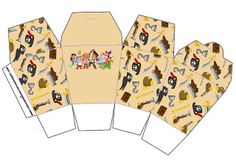 Inspired in Jake and the Never Land Pirates: Free Printables, Party Favor Boxes.