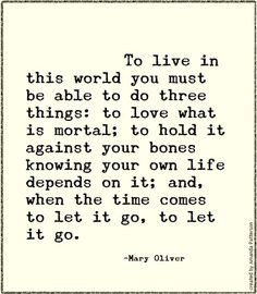 Quotable - Mary Oliver