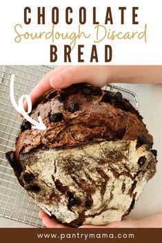 Sourdough Starter Discard Recipe, Sourdough Recipes, Bread Recipes, Chocolate Sourdough Bread Recipe, Sourdough Doughnut Recipe, Sourdough Rye, Rye Bread, Nutella, Treats