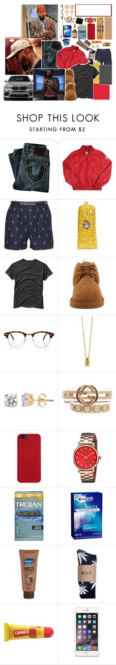""""""" I'm just trying to take you home to make that ass bounce """" by uglyboat ❤ liked on Polyvore featuring True Religion, Moncler, Polo Ralph Lauren, BMW, Gap, UGG Australia, Forever 21, Mister, Gucci and C6"""