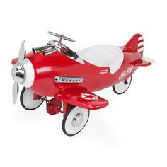Sky King #Pedal #Plane Left Front View by Airflow Collectibles  https://www.jackstoystore.com/collections/pedal-planes-by-airflow-collectibles