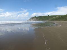 Porangahau beach. we have pictures with Bonnie here.
