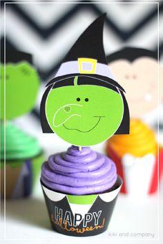 Halloween Cupcake and Candy Cup Wraps {free printable} – Kiki & Company – Best Hallowen Halloween Baking, Halloween 2, Halloween Cakes, Halloween Cupcakes Decoration, Cupcake Decorations, Cupcake Ideas, Cupcake Wraps, Cupcake Cakes, Decor Crafts