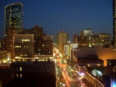 Fort Worth, TX: city at night