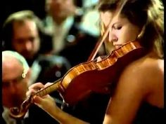 "Anne-Sophie Mutter, excerpt from Beethoven's ""Concerto 1984.""  (In description, says ""Violin Concerto No. 61."")  Go figure.  Herbert von Karajan conducts the Berliner Philharmoniker."