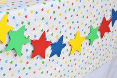Using Star Patterns & Primary colors are an easy way to create the Ultimate Caillou Party! Caillou, Primary Color Party, Primary Colors, Baby 1st Birthday, Birthday Parties, Birthday Ideas, Aaliyah Birthday, Creative Snacks, Baby Party
