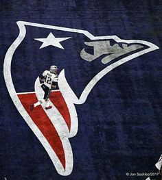 Tom Brady | PATS | New England Patriots | Flying Elvis logo