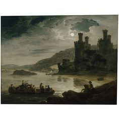 Conway Castle: Moonlight Effect (Oil painting)
