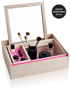 """i dont like the pink but otherwise this is a dream / Nomess Copenhagen's Balsabox """"Personal"""" Jewelry/Keepsake Box"""