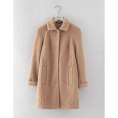 Boden Bridget Bouclé Coat ($268) ❤ liked on Polyvore featuring outerwear, coats, boucle coat, beige coat and boden