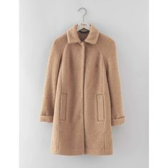 Boden Bridget Bouclé Coat ($268) ❤ liked on Polyvore featuring outerwear, coats, boucle coat, beige coat and boden