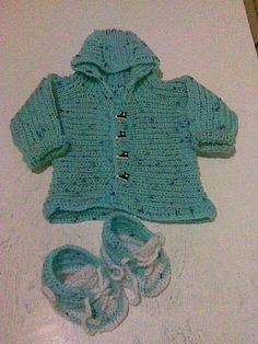 pletená soupravička na miminko