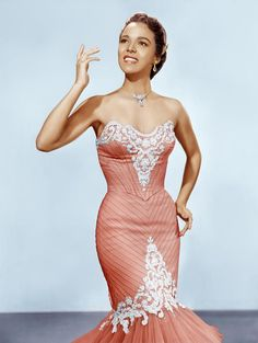 Dorothy Dandridge | In Living Color—- American film and theatre actress, singer and dancer. First black actress to be nominated for an Academy Award for Best Actress for her performance in the 1954 film Carmen Jones.