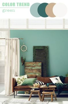 Furniture trends 2017: decorate with green | The cat on the roof