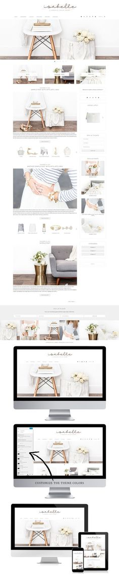 Isabelle - WordPress Theme. WordPress Blog Themes. $25.00