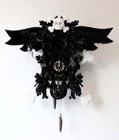 Dark Cuckoo clock. Love it