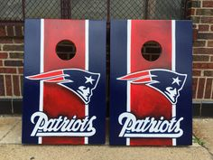 https://flic.kr/p/vYg8AU | New England Patriots 2 x 3 tailgate size cornhole boards | We can customize anyhthing here at Chi-Town Custom Cornhole Boards