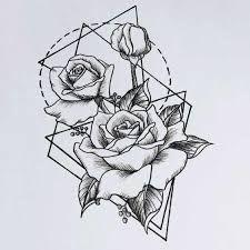 Resultado de imagem para geometric flower tattoo