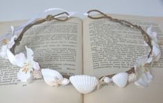 rustic mermaid shell crown beach wedding. $32.00, via Etsy.