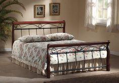 Bett Venecja Metallbett Doppelbett 180 x 200cm inkl. Lattenrost Dazu alte Weinkiste als Nachttisch?