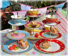 Vintage Cake Stands, Vintage Tea Sets, Teapots, Fine Bone China Teacups to Buy Tiered Cake Stands, Cupcake Stands, Relaxing Tea, Vintage Cake Stands, Cake Tray, Love Chocolate, Dinner Sets, Vintage Tea, High Tea