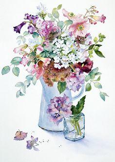 wildflower bouquet watercolor, Elena R.