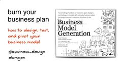 Burn your business plan - how to design, test and pivot your business model - creativity-world-forum-belgium by Alexander Osterwalder via Slideshare Business Planner, Plan Design, Business Design, Burns, Innovation, Presentation, Writing, How To Plan, World