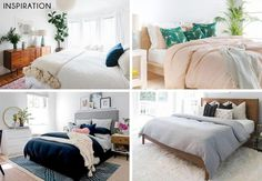 Updating Basic Bedroom Furniture with New Bedding