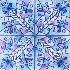 Symmetry- Principles of Art Winter Art Projects, School Art Projects, 7th Grade Art, Ecole Art, Principles Of Art, Middle School Art, Art Lessons Elementary, Art Lesson Plans, Art Classroom
