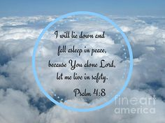 Cloud Word Art Psalm 4 Art Prints, home accents or graphic design image.  Save pin to revisit later